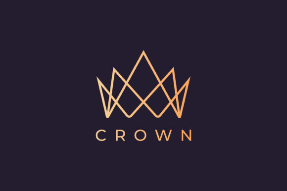 Crown Logo with Luxury and Modern Style Graphic Logos By murnifine