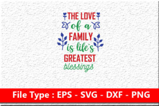 Print on Demand: Family Svg Design ,  the Love of a Famil Graphic Print Templates By Mou_graphics