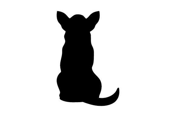 Dog Silhouette from Behind Cut File