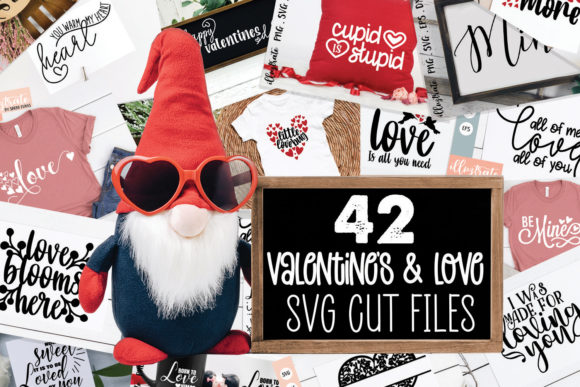 Print on Demand: Valentines Day SVG Bundle | Love SVG Grafik Plotterdateien von illuztrate