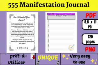 555 Manifestation Journal (KDP) Graphic KDP Interiors By Wiss_Tips designs