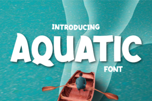 Print on Demand: Aquatic Display Font By twinletter
