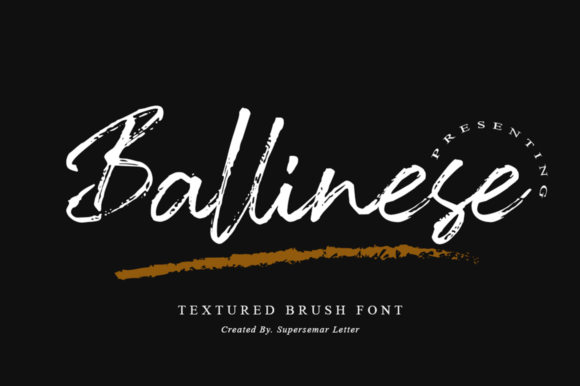Print on Demand: Ballinese Script & Handwritten Font By Supersemar Letter
