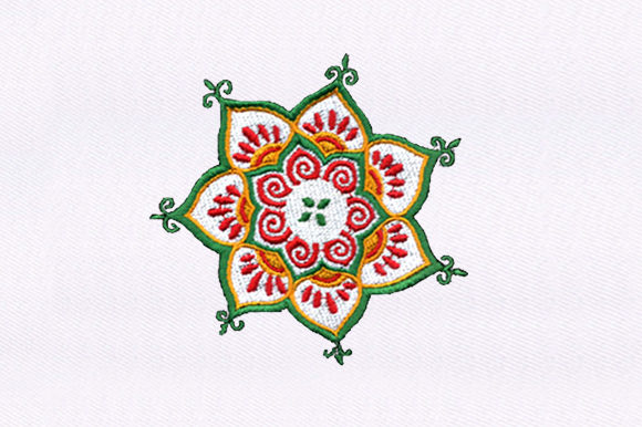 Beautiful Flowers Single Flowers & Plants Embroidery Design By DigitEMB