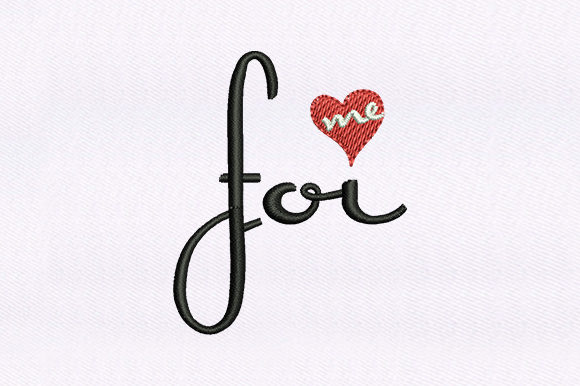 Beautiful for Me Valentine's Day Embroidery Design By DigitEMB