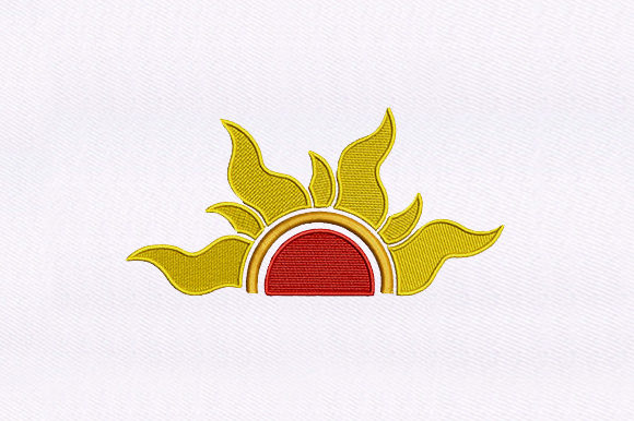 Blazing Hot Sun Summer Embroidery Design By DigitEMB