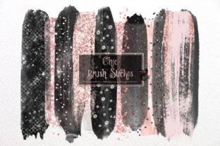 Print on Demand: Chic Brush Strokes Clipart Graphic Illustrations By Digital Curio