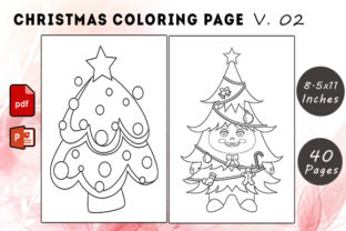 Christmas Coloring Page V. 02 Graphic KDP Interiors By KDP Successor