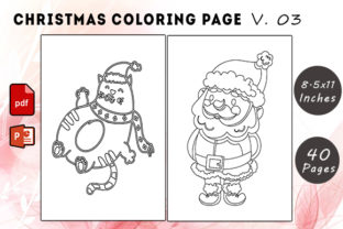 Christmas Coloring Page V. 03 Graphic KDP Interiors By KDP Successor