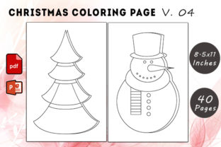Christmas Coloring Page V. 04 Graphic KDP Interiors By KDP Successor
