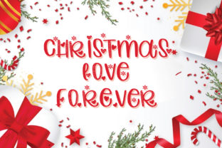 Print on Demand: Christmas Love Forever Display Font By goodigital