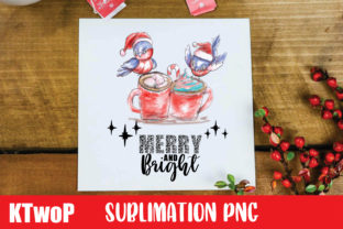 Print on Demand: Christmas Merry and Bright Cardinal PNG Graphic Illustrations By KtwoP