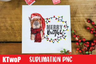 Print on Demand: Christmas Merry and Bright Fox Clipart Graphic Illustrations By KtwoP