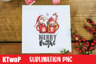 Print on Demand: Christmas Merry and Bright Gnome PNG Graphic Illustrations By KtwoP