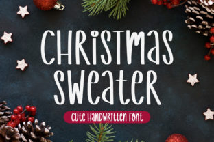 Print on Demand: Christmas Sweater Script & Handwritten Font By AquariiD