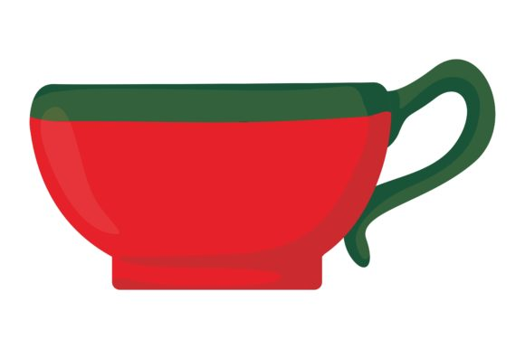 Print on Demand: Christmas Cup Vector Graphic Crafts By Arsa Adjie