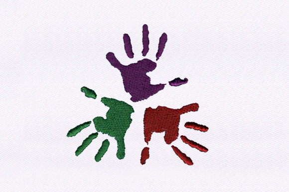 Colorful Hands Awareness Embroidery Design By DigitEMB