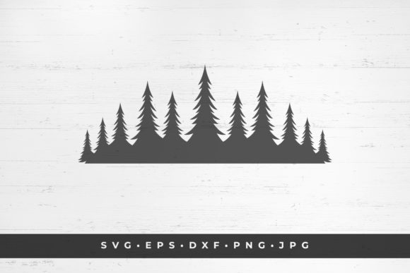 Coniferous Forest Icon Isolated on White Graphic Illustrations By vasyako1984
