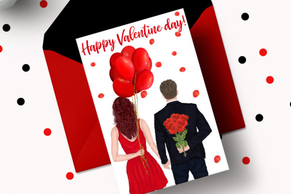 Couples Clipart Valentines Day Graphic Preview