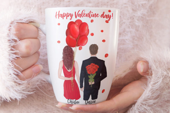 Couples Clipart Valentines Day Graphic Image
