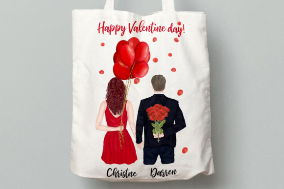 Couples Clipart Valentines Day Graphic Downloadable Digital File
