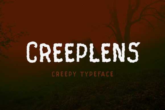 Print on Demand: Creeplens Display Font By letterhend