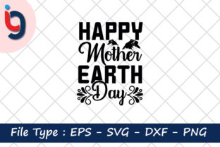 Print on Demand: Earth Day Svg Design,Happy Mother Earth Graphic Print Templates By Iyashin_graphics