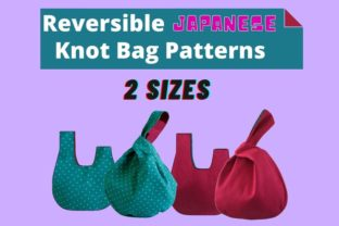 Easy Japanese Knot Bag Sewing Pattern Graphic Sewing Patterns By VisCulture