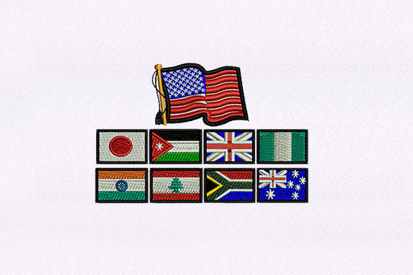 Europe Countries Flags Independence Day Embroidery Design By DigitEMB