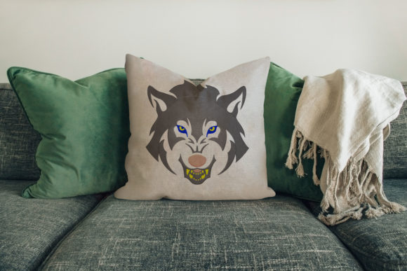 Face of Wolf Design House & Home Embroidery Design By Digital Creations Art Studio