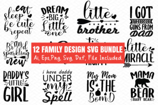 Print on Demand: Family Design Bundle Graphic Crafts By BDB_Graphics