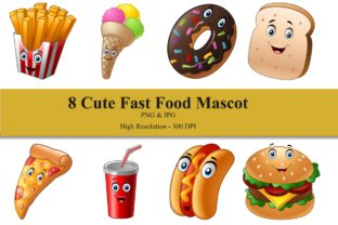 Fast Food Mascot Bundle Graphic Illustrations By zhyecarther