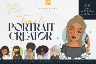 Print on Demand: Female Portrait Creator Graphic Illustrations By vladfedotovv