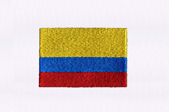 Flag of Colombia Independence Day Embroidery Design By DigitEMB