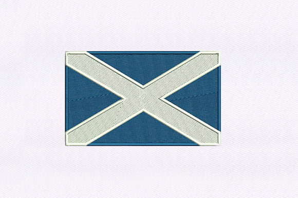 Flag of Scotland Independence Day Embroidery Design By DigitEMB