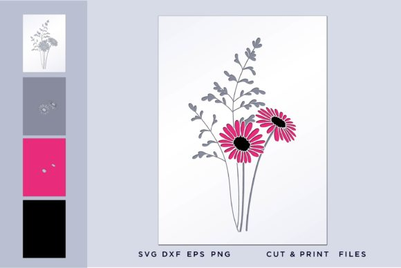 Flower, Layers Graphic 3D SVG By 2dooart