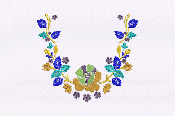 Flowers Quilting Single Flowers & Plants Embroidery Design By DigitEMB