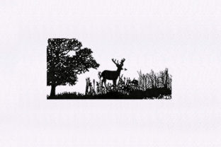 Forest Silhouette Forest & Trees Embroidery Design By DigitEMB