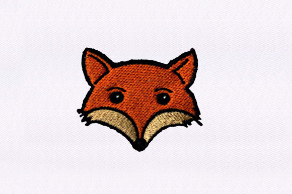 Fox Face Wild Animals Embroidery Design By DigitEMB
