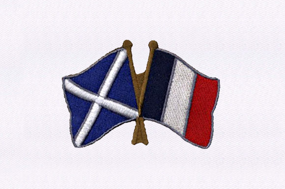 France & Scotland Flag Independence Day Embroidery Design By DigitEMB