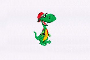Funky Dinosaur Dinosaurs Embroidery Design By DigitEMB