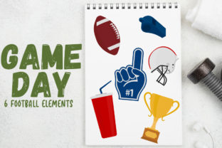 Game Day, Football Elements Graphic Crafts By Firefly Designs