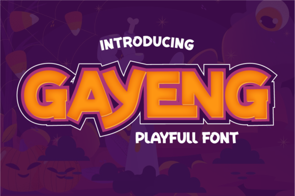 Print on Demand: Gayeng Display Font By twinletter