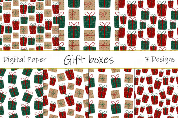 Gift Box Pattern New Year Christmas Graphic Patterns By shishkovaiv