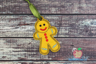 Ginger Bread Man in the Hoop Ornament Christmas Embroidery Design By embroiderydesigns101