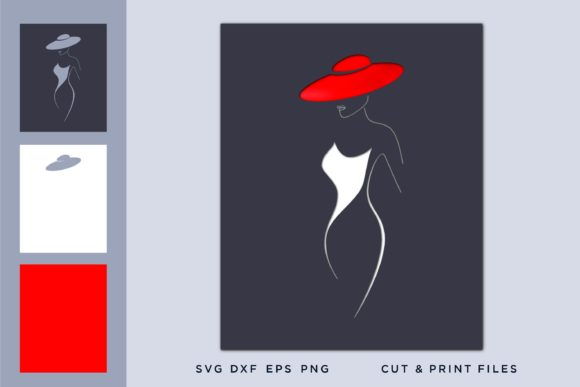 Girl Whit a Red Hat Graphic 3D SVG By 2dooart