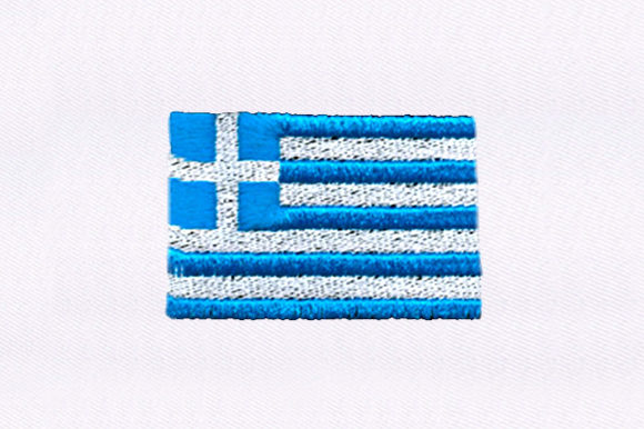 Greek Flag Independence Day Embroidery Design By DigitEMB