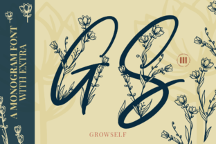 Print on Demand: Growself Monogram Decorative Font By colllabstudio