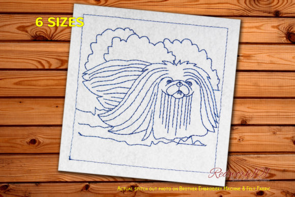 Hairy Pekingese Dog Dogs Embroidery Design By embroiderydesigns101