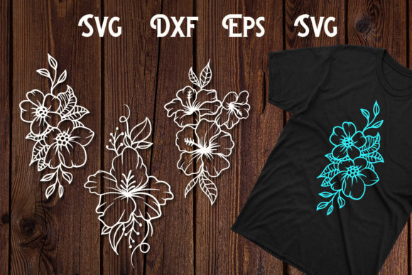 Print on Demand: Hand Drawn Flower Svg, Flower Cut File Graphic Print Templates By dadan_pm